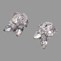 1942-1945 Eisenberg Rhinestone Earrings