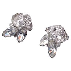 1942-1945 Eisenberg Rhinestone Earrings