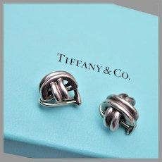 1990 Tiffany Sterling Earrings in Original Box and Bag