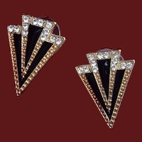 Art Deco Pierced Earrings