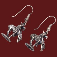 Sterling End of The Trail of Tears Pierced Earrings