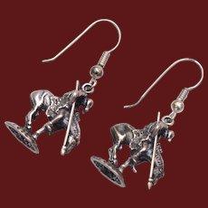 Sterling End of The Trail of Tears Pierced Earrings