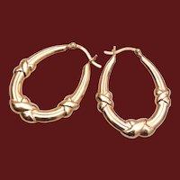 Sterling Vermeil Pierced Earrings
