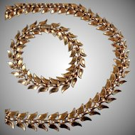 Trifari Set of Necklace and Bracelet - Pat Pend, 1950