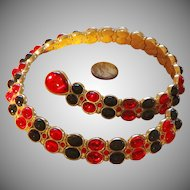 Exquisite Swarovski  Red and Black Necklace - Vintage