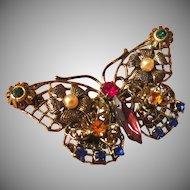 Vintage Figural Butterfly Brooch