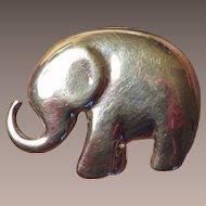 Sterling Liz Claiborne Elephant Brooch