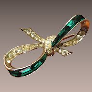 Boucher Phyrgian Cap Emerald Color Brooch - pre 1955