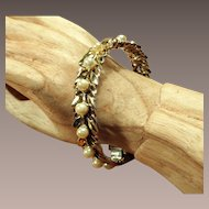 Ralph DeRosa Sterling Vermeil Bracelet - 1940's