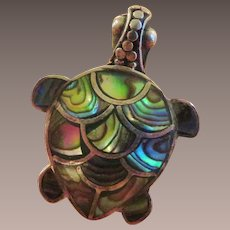 Turtle Ring Sterling Mother of Pearl