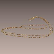 14k Gold Singapore Chain Vintage Necklace