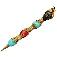 Florenza Blackamoor Mechanical Pencil Pendant