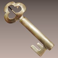 Calvaire Sterling Key to My Heart Brooch - pre 1957