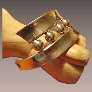 Taxco Sterling Hinged Bracelet with Eagle Mark