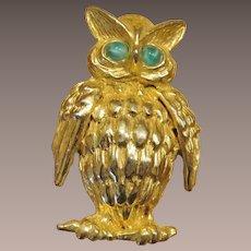 DeNicola Figural Owl Brooch