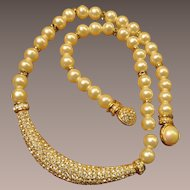 Henkel Grosse Crystal Faux Pearl Necklace