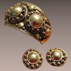 Siam Sterling Silver Bracelet and Earrings