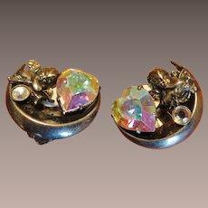 Ikuo Paris Cherub Heart Earrings