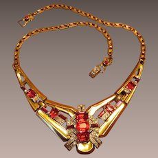 McClelland Barclay Ruby Red Necklace