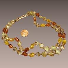 Boucher Art Glass Bead Necklace - 2 strands