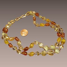 Boucher Art Glass Bead Necklace - 2 strands