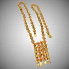 Sterling Israel Cannetille Etruscan Style Necklace