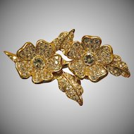 Beautiful Joan Rivers Duette Earrings and Brooch
