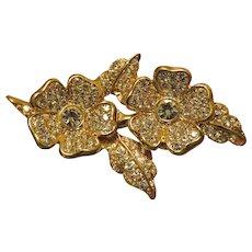 Beautiful Joan Rivers Duette Earrings and Brooch