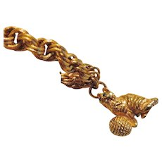 Napier Cat Charm Bracelet