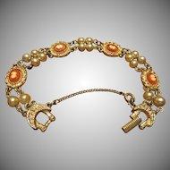 Goldette Cameo Bracelet