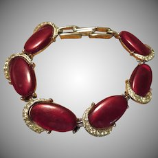 Thermoset and Rhinestone Bracelet
