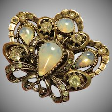 ART Moonstone Brooch