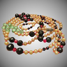 """Beautiful Opera Length 58"""" Necklace with Fascinating Beads"""