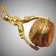 Vintage 1928 Rotating Trio Locket Necklace