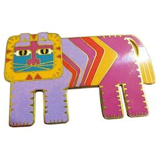 Laurel Burch Gato Cat Brooch