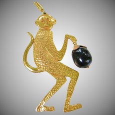 Figural Monkey Necklace by Designer Bill Smith