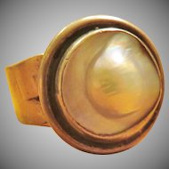 Olga Ganoudis Blistered Pearl Ring Size 7.5