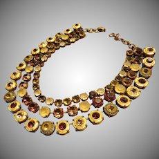 Fabulous JL Blin Paris Necklace  Artisan Vintage 1990's