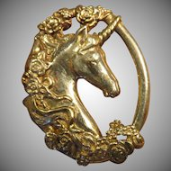 Gorham Sterling Unicorn Figural Pendant