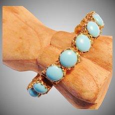 Pauline Rader Turquoise Hinged Bracelet
