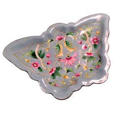 Vintage Chinese Blue Enamel Figural Butterfly Shaped Tray
