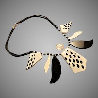Wild Scherrer Paris Acrylic Necklace