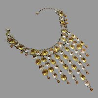 Babylone Paris Vintage Crystal Bib Necklace