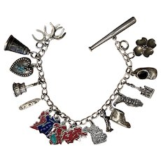 Vintage Sterling Charm Bracelet 17 charms