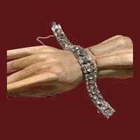 VIntage Sparkling Crystal and Sterling Bracelet