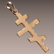 Gold Filled Cross Charm or Pendant