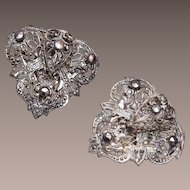 Filigree and Marcasite Dress Clips