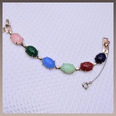 Colorful Scarab Bracelet