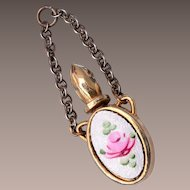 Guilloche Perfume Bottle Pendant