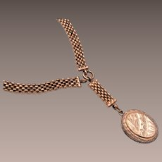 Gold Filled Locket with Gold Filled Necklace